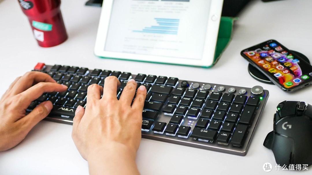 金属质感,全能矮轴:狼蛛F2090超薄无线机械键盘体验