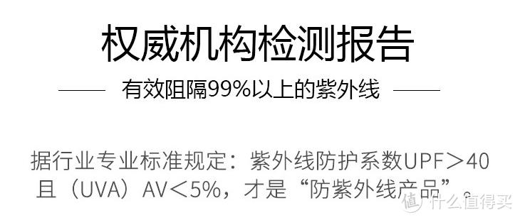根据国家质检总局颁布的标准要求,只有衣服的UPF(纺织品的抗紫外线指数)>40,且T(UVA)AV(长波紫外线透过率)<5%时,才可称为防紫外线产品