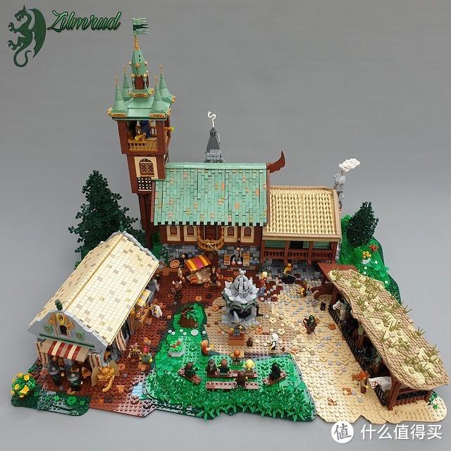 乐高大师彼得·伊姆鲁德所创造的中世纪世界