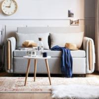 林氏木业折叠多功能沙发床两用单人双人伸缩小户型客厅家具LS182