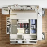 林氏木业北欧现代简约榻榻米板式床卧室家用高箱床收纳储物床JF2A