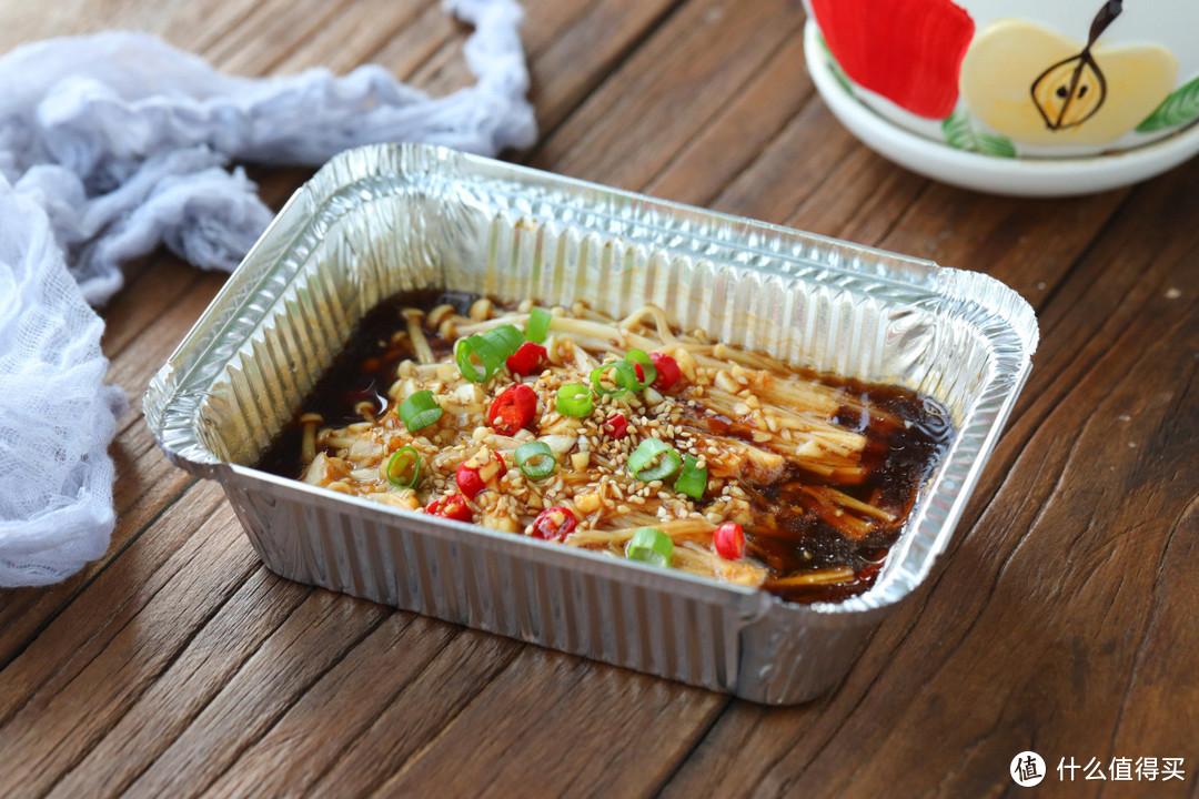 我家常这样吃金针菇,无油烟还不用刷盘子,实在太省事,适合懒人