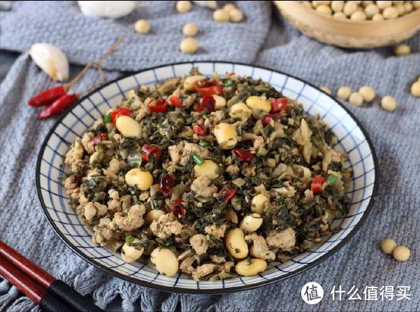 这菜跟黄豆一起煮,香辣开胃还补钙,3碗米饭不够吃