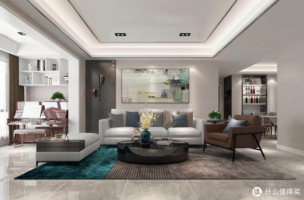 她家一点都不豪华,看到客厅后却把我惊艳到了,简洁、实用又美观
