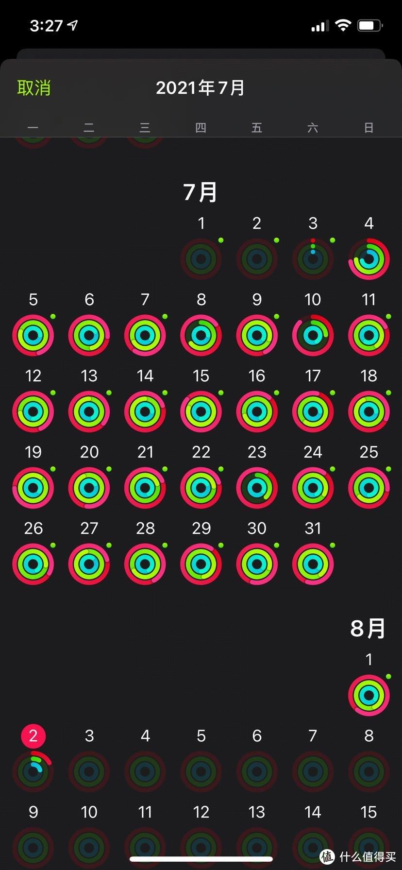7月从华为手表换成了apple watch