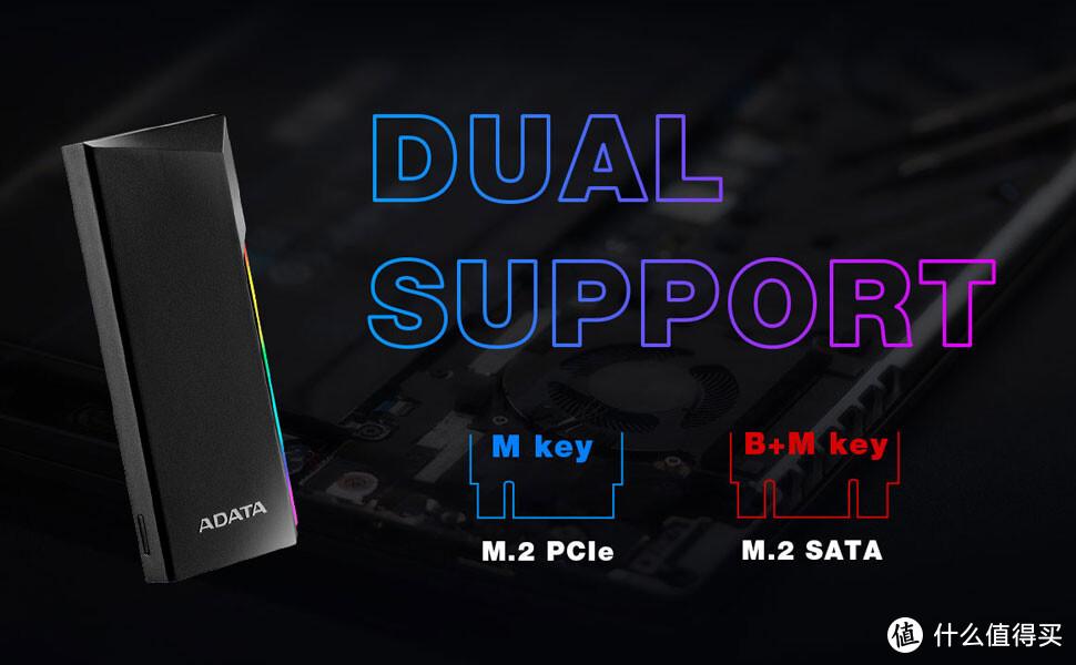 威刚发布 EC700G RGB SSD 硬盘盒,最高可提供1GB/s 读速