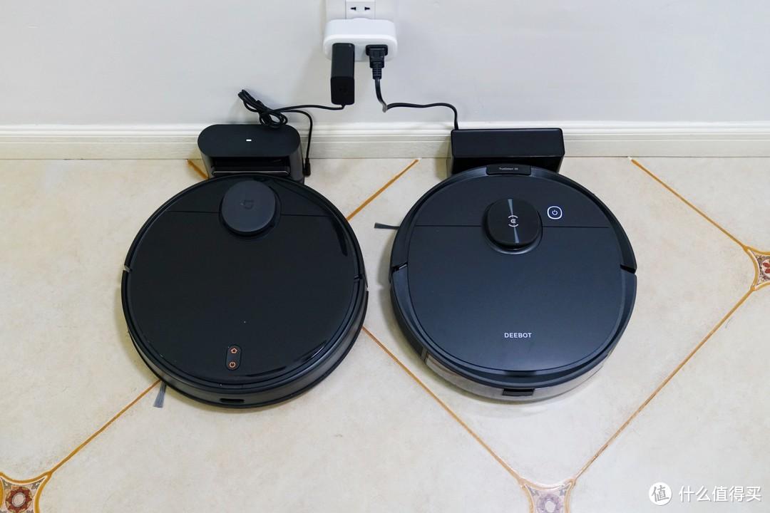 左:米家扫拖机器人;右:科沃斯N8Pro