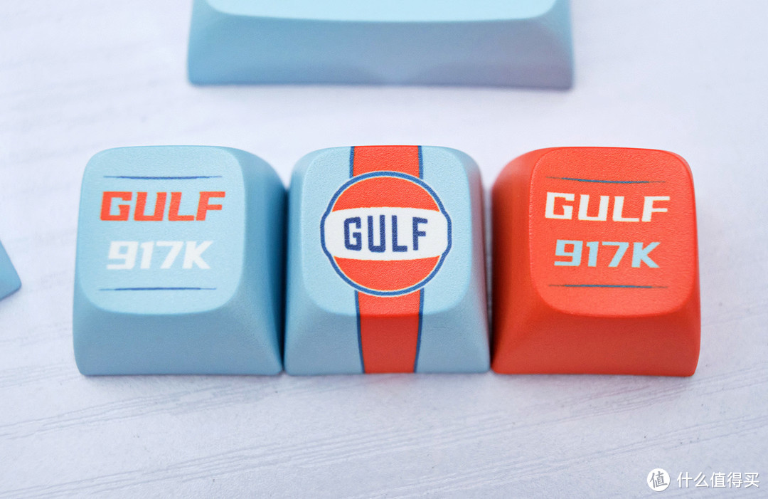 对风驰电掣的神往,指尖文创Gulf Racing主题键帽开箱