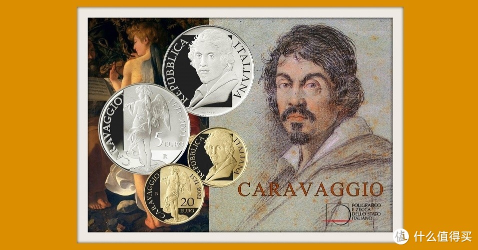 意大利:为文艺复兴时期艺术家卡拉瓦乔诞辰 450 周年发行金银币