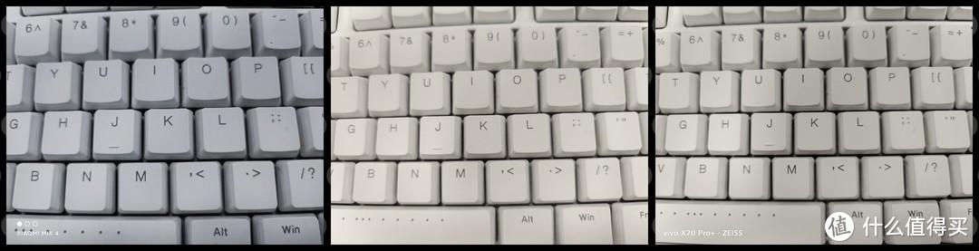 从左至右依次是MIX4、X60Pro+、X70Pro+注意中心到边缘的画质衰减