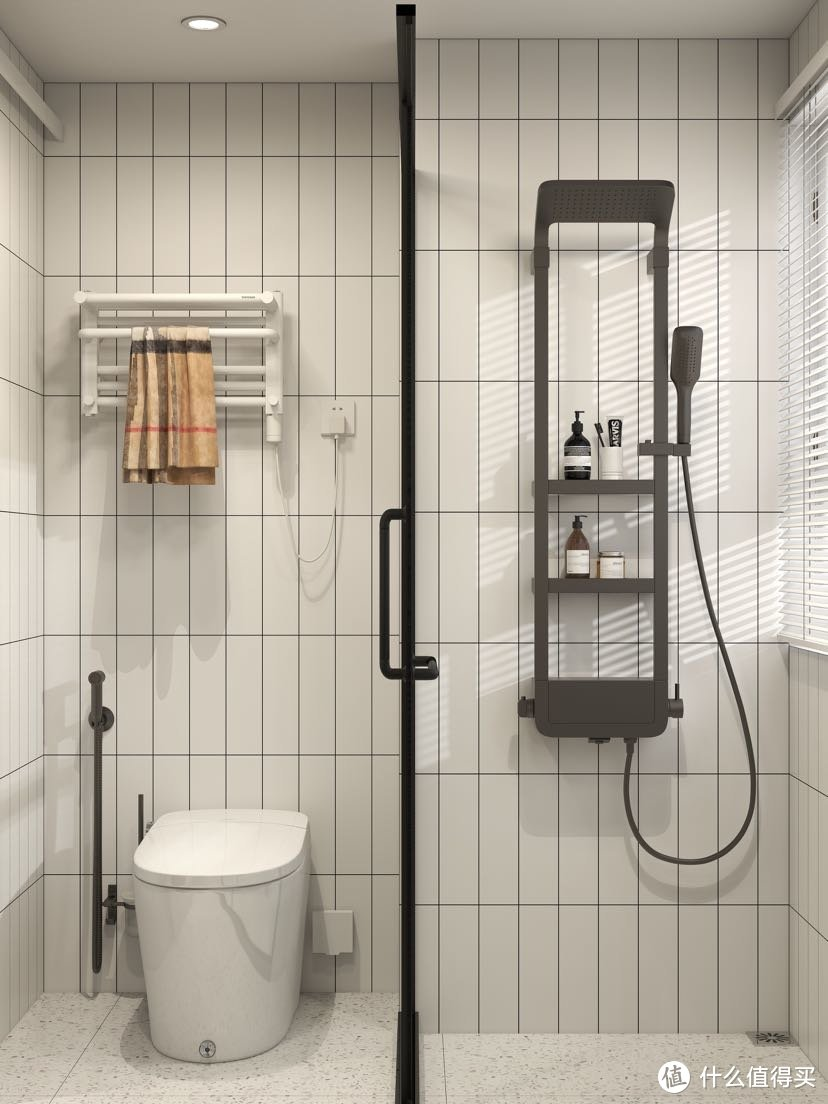 卫生间干湿三分离,双洗手台+超强收纳