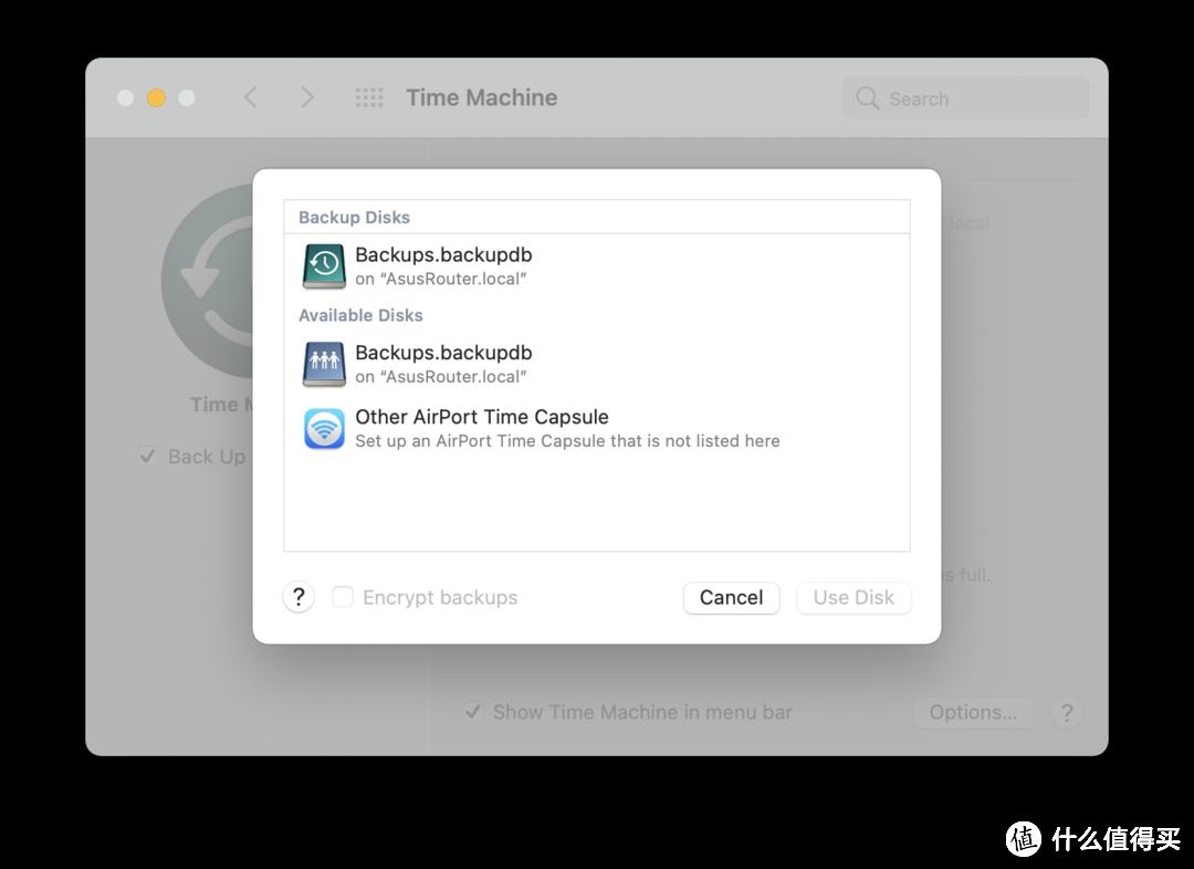 华硕Ac68u接usb硬盘实现全家mac时光机实时备份