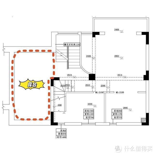 左:三楼露台