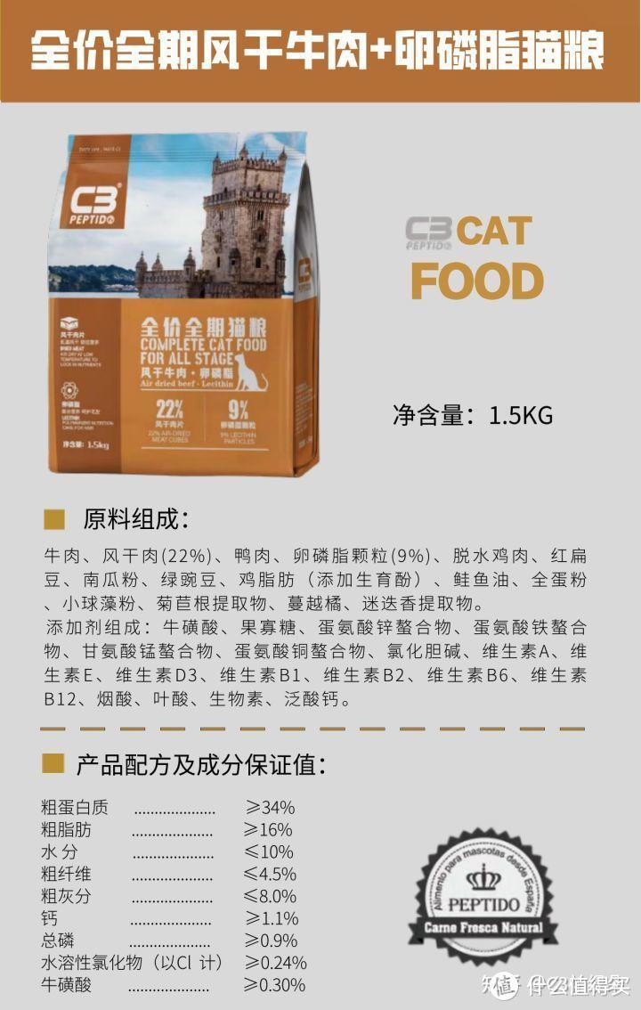 超高性价比的风干混合猫粮|C3帕缇朵