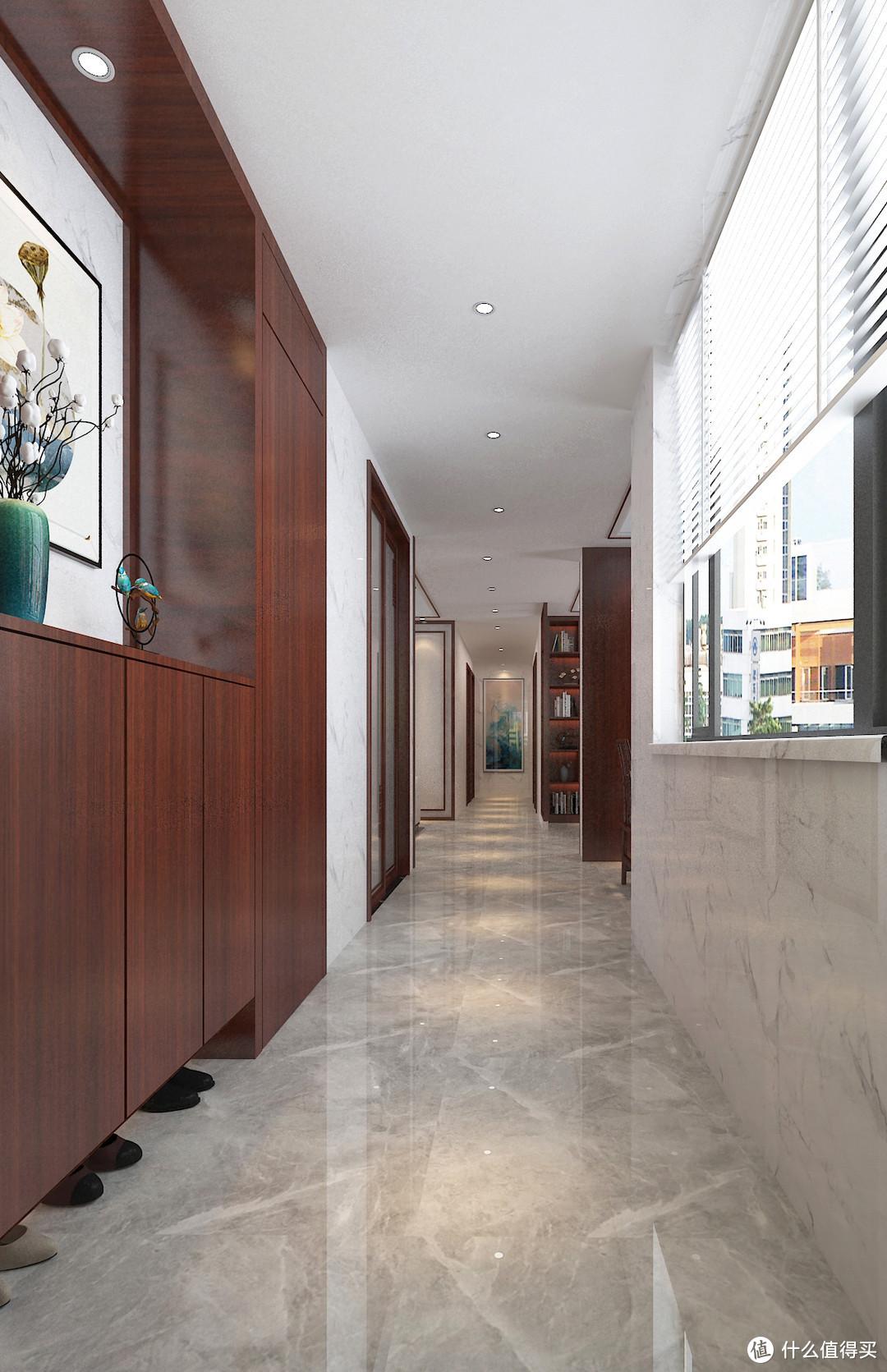 惠州夫妻的新房装修,中式风格很有韵味,屋内的布局利用到了极致
