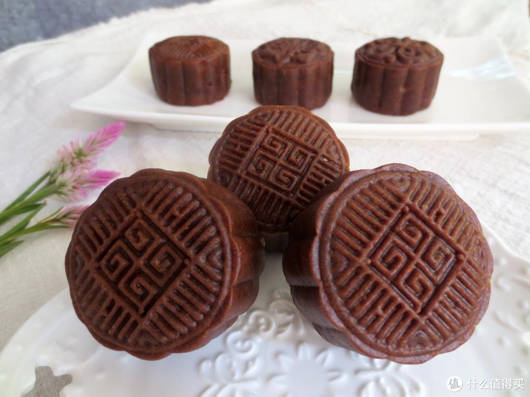 孩子爱吃的巧克力月饼,原来做法这么简单,学会再也不用买