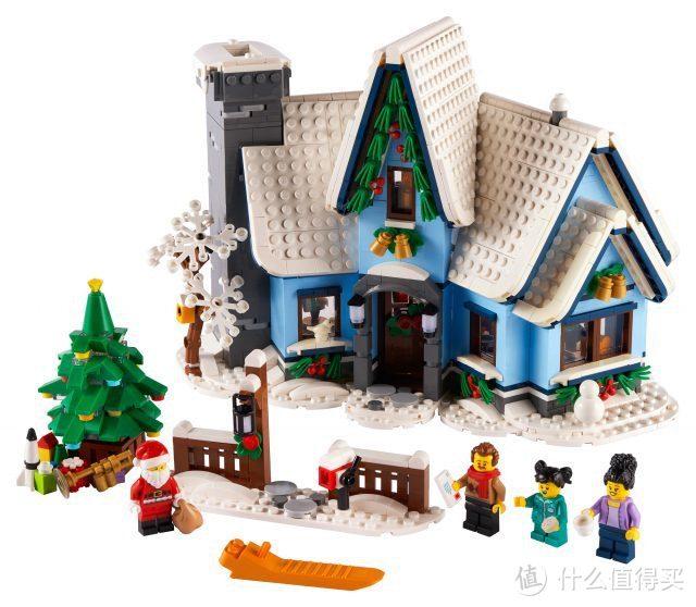 乐高2021年冬季村庄系列10293年圣诞老人参观套装