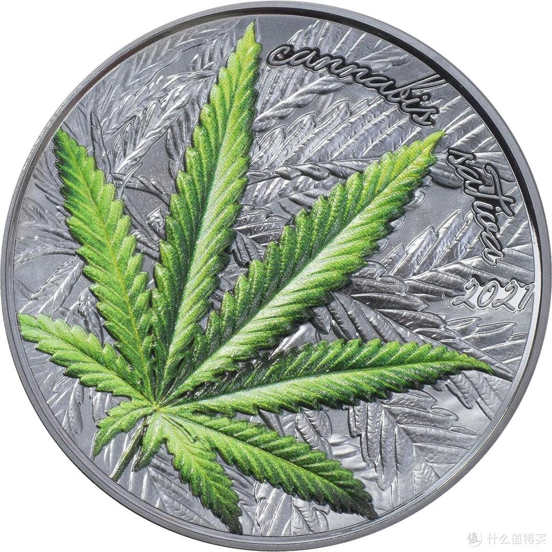 大麻叶-2021年贝宁银币