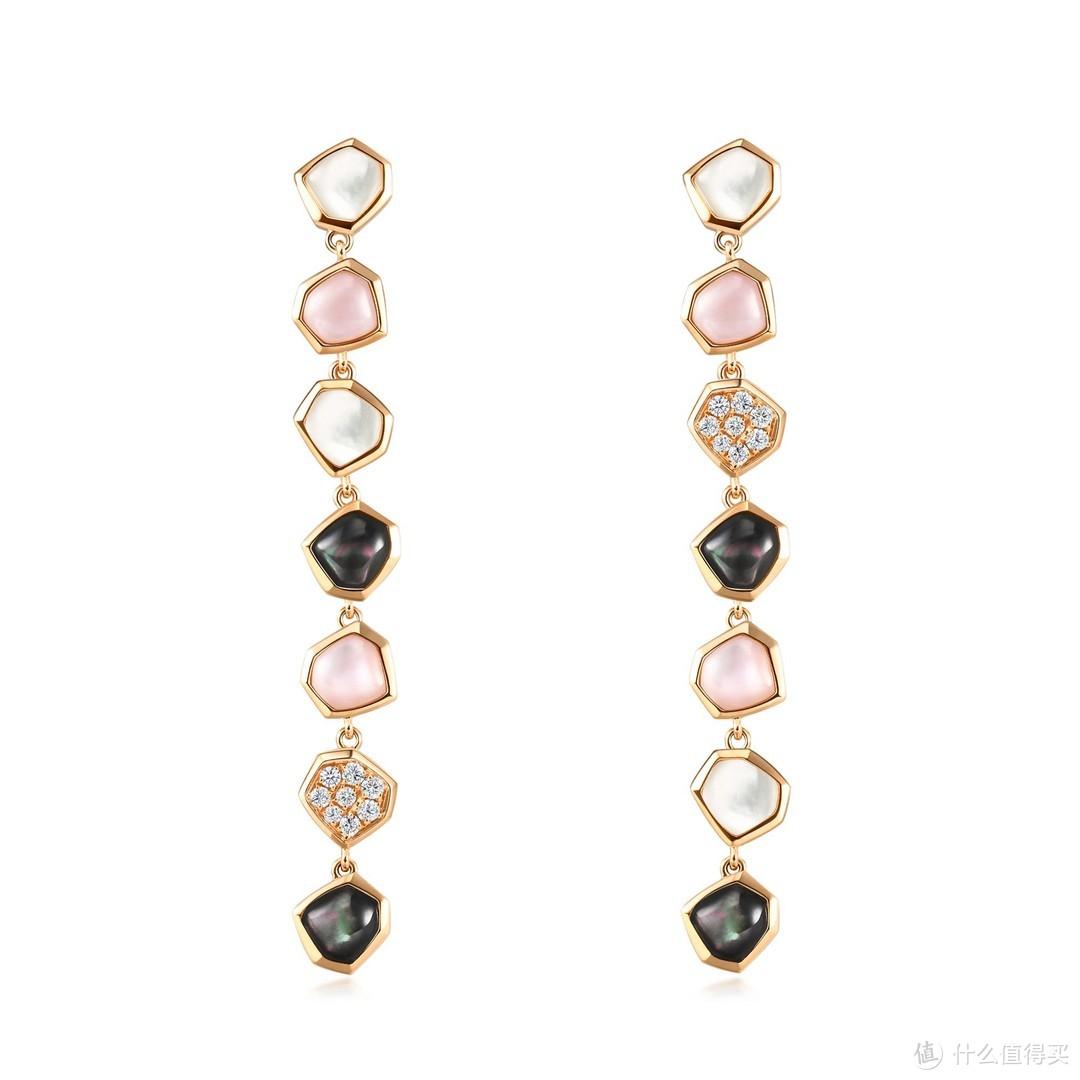 EMPHASIS艾斐诗Harmony「合」系列18K金贝母钻石耳环
