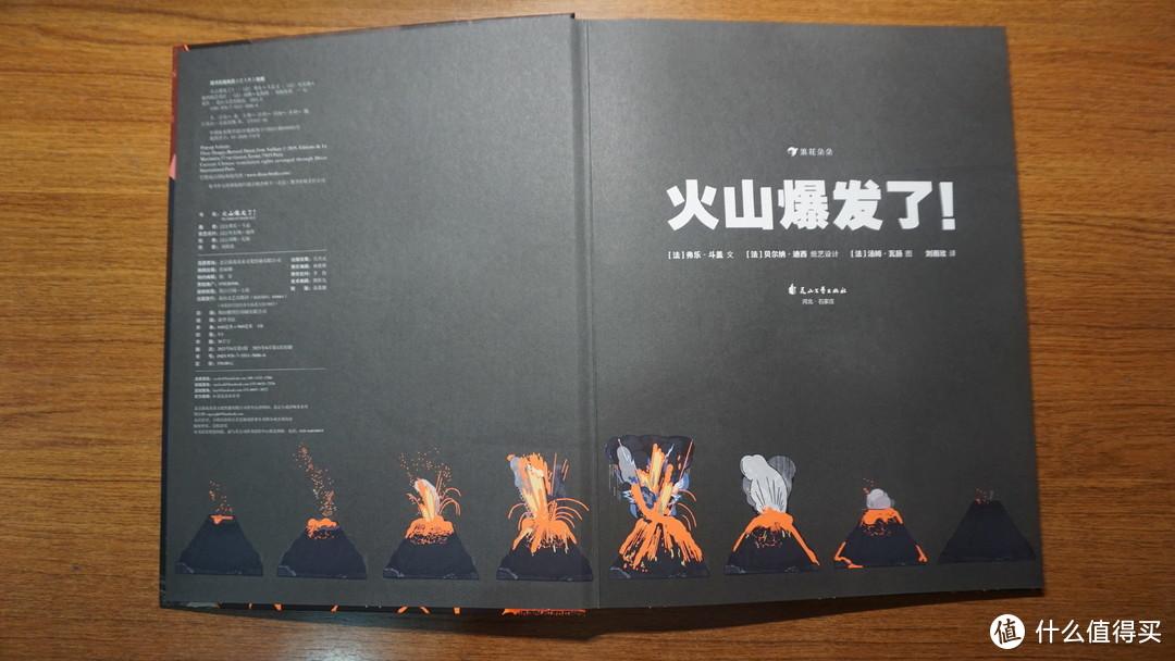 首页下方设计了一个火山喷发全过程的演变图,挺形象的,这样孩子容易理解!