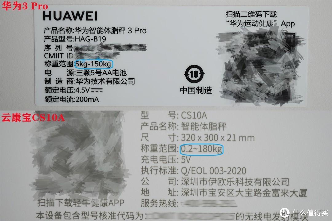 八电极家用体脂秤哪家强?华为3 Pro VS云康宝CS10A全面横评