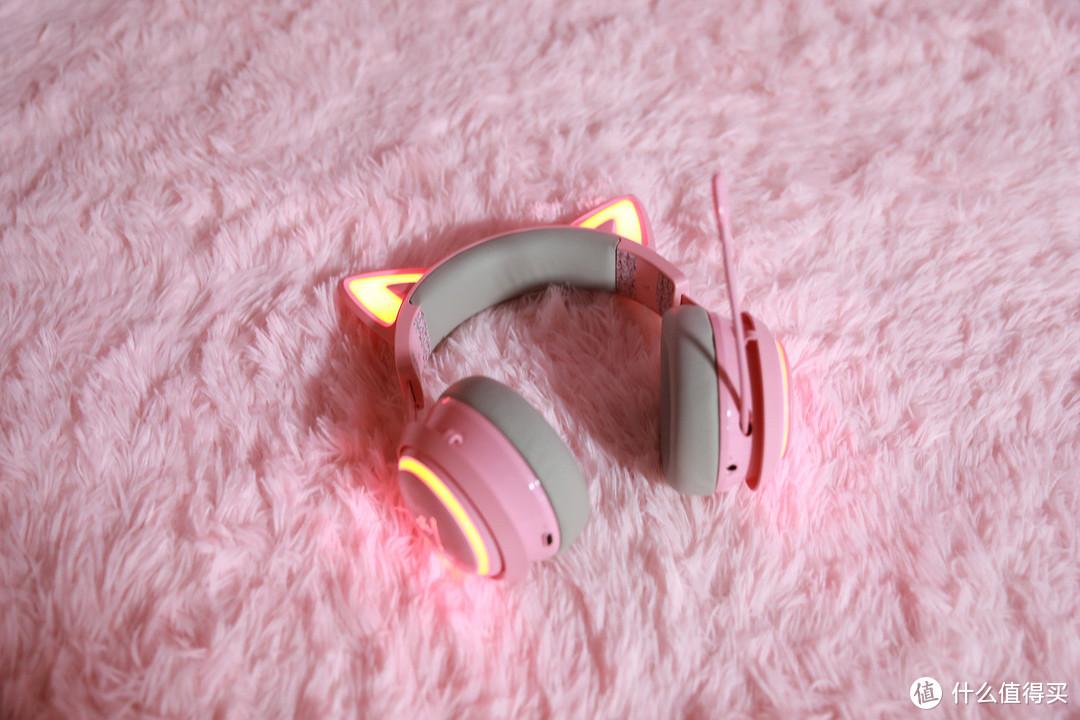 硬核升级 硕美科GS510萌猫二次元游戏耳机开箱