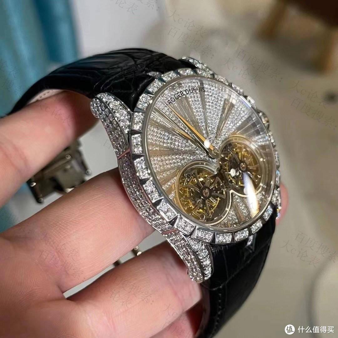 大c论表:罗杰杜彼双陀飞轮后改装镶钻,除了贵没啥毛病
