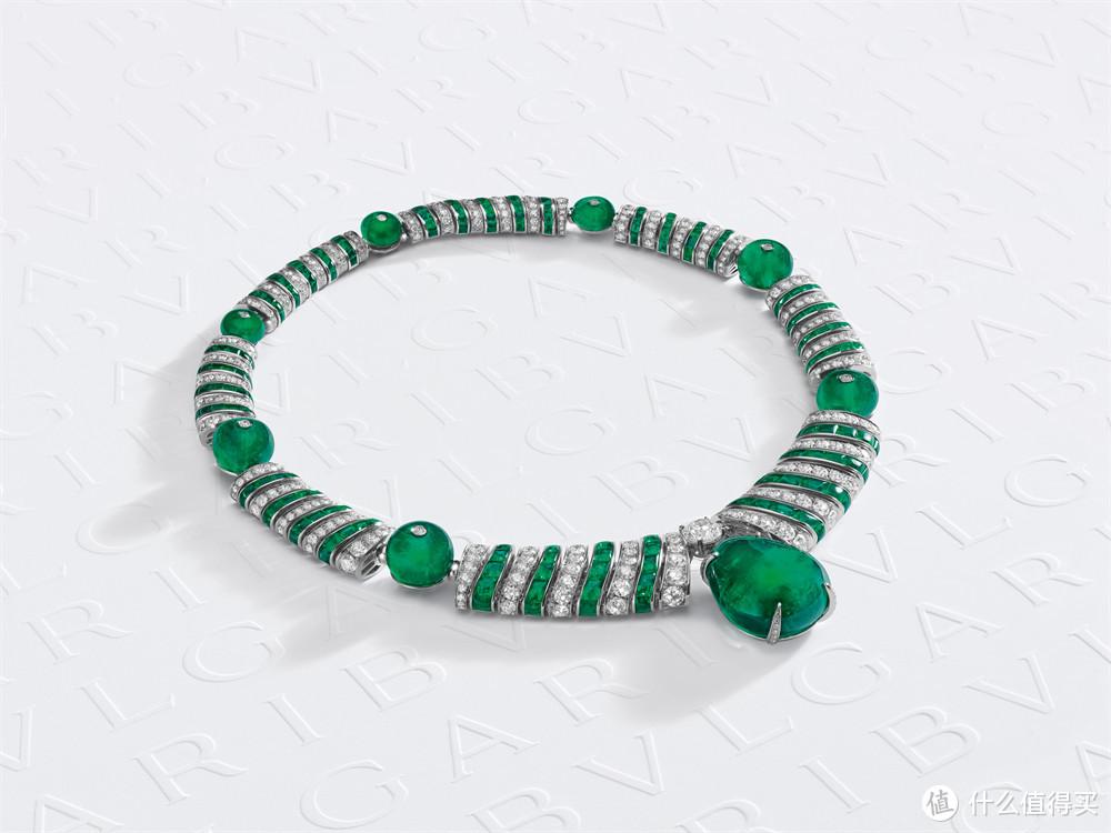宝格丽Magnifica绮珍意宝高级珠宝系列Emerald Elipse椭圆祖母绿项链