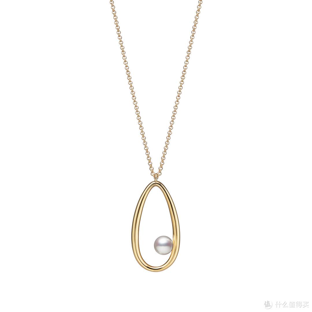 Mikimoto 18K黄金吊链配日本Akoya珍珠