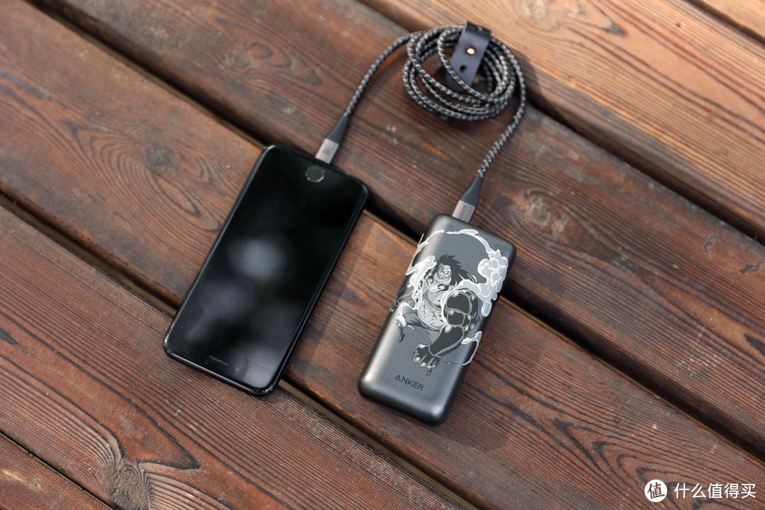 海贼王联名,安克1万毫安充电宝+数据线使用体验