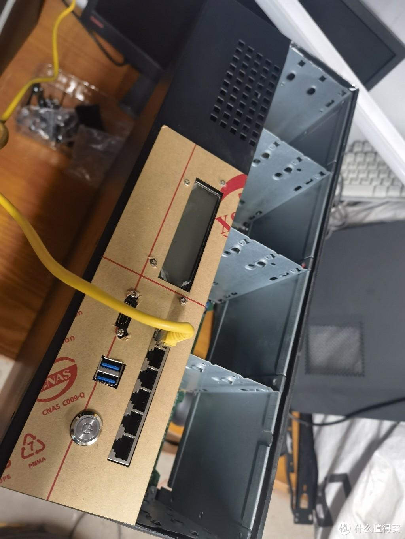 定做的面板正好可以来堵这个洞洞,还可以做前面板IO。