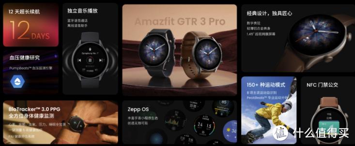 跃我 Amazfit GTR 3/Pro 智能手表发布:支持全天监测、35 天超长续航